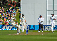 Trent Boult dodges a delivery during day one of the 2nd cricket test match between the New Zealand Black Caps and Sri Lanka at the Hawkins Basin Reserve, Wellington, New Zealand on Saturday, 3 February 2015. Photo: Dave Lintott / lintottphoto.co.nz