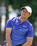 Cromwell, CT-25 JUNE 25 2017-062517MK02 Rory Mcllroy reacts to his tee shot off onto the 18th fairway Sunday afternoon during the final round of the 2017 Travelers Championship at the TPC River Highlands in Cromwell.  Mcllory had seven birdies in his round to finish with a score of sixty-four and six under par for the tourny. Michael Kabelka / Republican-American