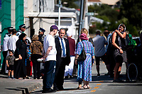 Wellington City Councillor Simon Woolf (centre). NZ marks one week since Christchurch terror attacks. Wellington Islamic Centre in Wellington, New Zealand on Friday, 22 March 2019. Photo: Dave Lintott / lintottphoto.co.nz