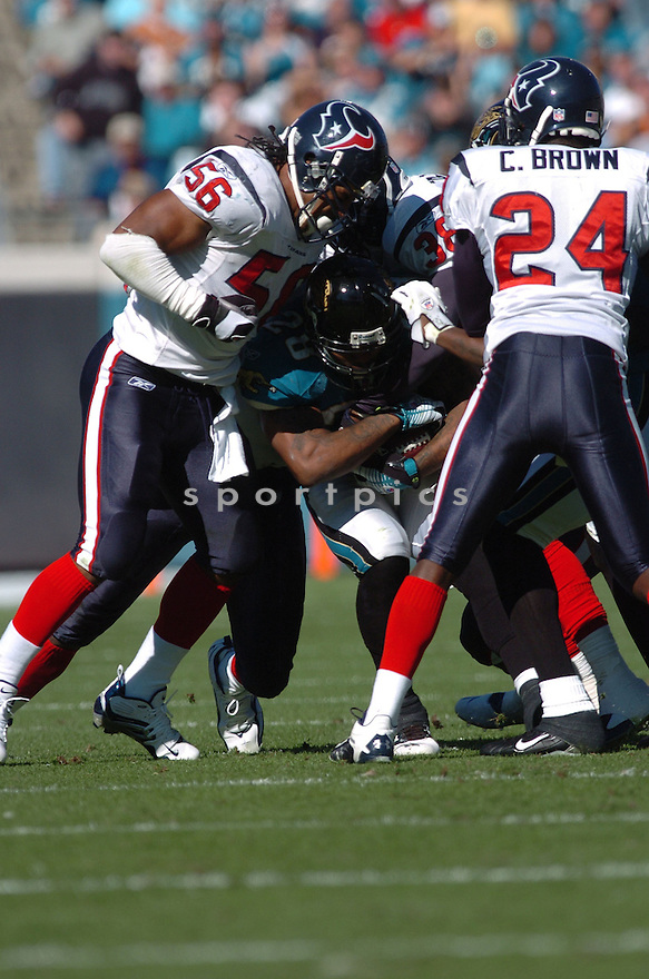 MORLON GREENWOOD, of the Houston Texans,during their game against  the Jacksonville Jaguars  on Novmeber 12, 2006 in Jacksonville, FL...Texans  win 13-10..Tomasso DeRosa / SportPics