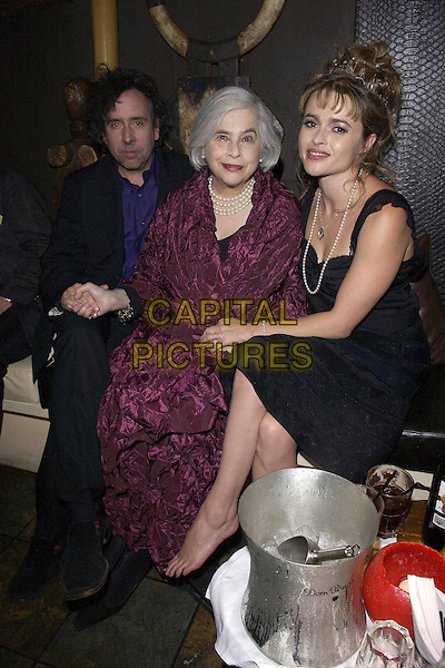 "TIM BURTON, MOTHER & HELENA BONHAM CARTER.""Corpse Bride"" After Party.October 17th, 2005.Ref: FIN.full length celebrity couple son daughter in law family holding hands.www.capitalpictures.com.sales@capitalpictures.com.© Capital Pictures."