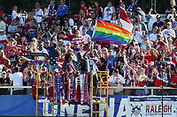 Cary, NC - Sunday October 22, 2017: U.S. Supporters celebrate a goal during an International friendly match between the Women's National teams of the United States (USA) and South Korea (KOR) at Sahlen's Stadium at WakeMed Soccer Park. The U.S. won the game 6-0.