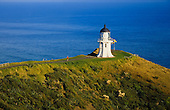 Cape Reinga lighthouse at the northern most tip of New Zealand, Northland, New Zealand.
