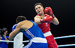 Wales Sammy Lee v Ato Plodzicki-Faoagali in the Men's 81kg Final Bout <br /> <br /> *This image must be credited to Ian Cook Sportingwales and can only be used in conjunction with this event only*<br /> <br /> 21st Commonwealth Games - Boxing - Day 10 - 14\04\2018 - Oxenford Studios  - Gold Coast City - Australia