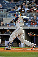 Apr 02, 2011; Bronx, NY, USA; Detroit Tigers outfielder Magglio Ordonez (30) during game against the New York Yankees at Yankee Stadium. Yankees defeated the Tigers 10-6. Mandatory Credit: Tomasso De Rosa