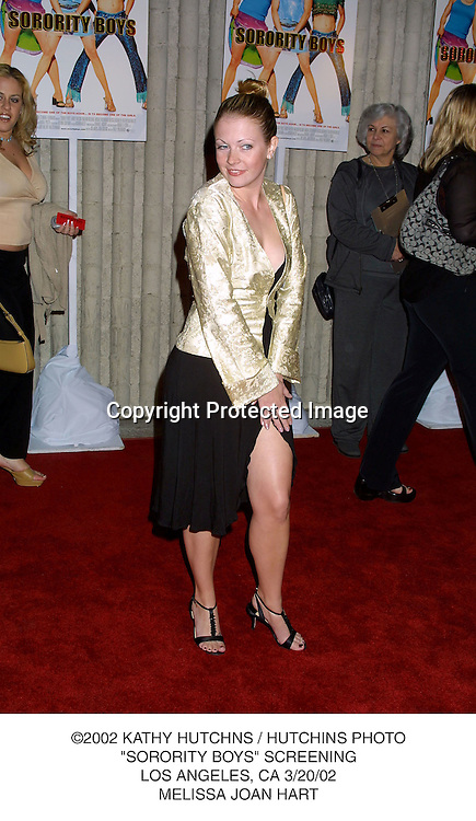 "©2002 KATHY HUTCHNS / HUTCHINS PHOTO.""SORORITY BOYS"" SCREENING.LOS ANGELES, CA 3/20/02.MELISSA JOAN HART"