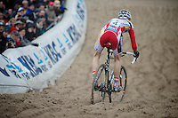 Superprestige Zonhoven 2013<br /> <br /> Kevin Pauwels (BEL) decsending into 'The Pit'