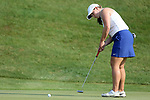 SIOUX FALLS, SD - SEPTEMBER 3: Caroline Inglis rolls her birdie putt to the cup on the 3rd hole during the final round of the 2017 Great Life Challenge Symetra Tour stop at Willow Run in Sioux Falls.  (Photo by Dave Eggen/Inertia)