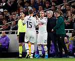 Tottenham's Eric Dier gets substituted during the UEFA Champions League match at the Tottenham Hotspur Stadium, London. Picture date: 26th November 2019. Picture credit should read: David Klein/Sportimage