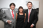Charlie McAllister, Ann Fitzpatrick and Manager Peter Fitzpatrick at the Civic Reception for Louth GAA Team in the dHotel....Picture Jenny Matthews/Newsfile.ie