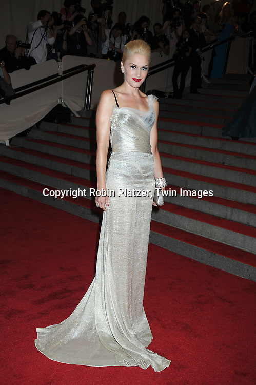 Gwen Stefani arriving at The Costume Institute Gala Benefit celebrating American Woman: Fashioning a National Identity at The Metropolitan Museum of Art on May 3, 2010 in New York City.