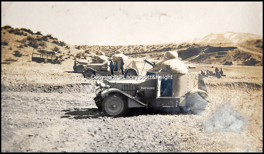 BNPS.co.uk (01202 558833)<br /> Pic: LaceyScott&Knight/BNPS<br /> <br /> Armoured cars - The British deployed the latest technology from the battlefields of the Great War.<br /> <br /> From the far reaches of the British Empire - Remarkable previously unseen photos of a forgotten military campaign has come to light 100 years later.<br /> <br /> The little known Waziristan campaign of 1919 and 1920 saw the British and Indian forces engaged in fierce fighting against Afghan tribesman who invaded northern India.<br /> <br /> However, the conflict, which saw the use of the might of the RAF in targeted bombing raids, has become almost lost to history since it took place just after the Great War.<br /> <br /> The battleground was the rugged, remote, mountainous region which is modern day northern Pakistan, on the southern border of Afghanistan.