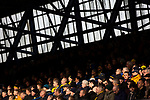 Ipswich Town 0, Oxford United 1, 22/02/2020. Portman Road, SkyBet League One. Visiting fans watching the first-half action as Ipswich Town play Oxford United in a SkyBet League One fixture at Portman Road. Both teams were in contention for promotion as the season entered its final months. The visitors won the match 1-0 through a 44th-minute Matty Taylor goal, watched by a crowd of 19,363. Photo by Colin McPherson.