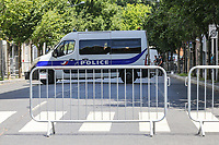 Police block off roads around Stade de France ahead of the International Friendly match between France and England at Stade de France, Paris, France on 13 June 2017. Photo by David Horn/PRiME Media Images.