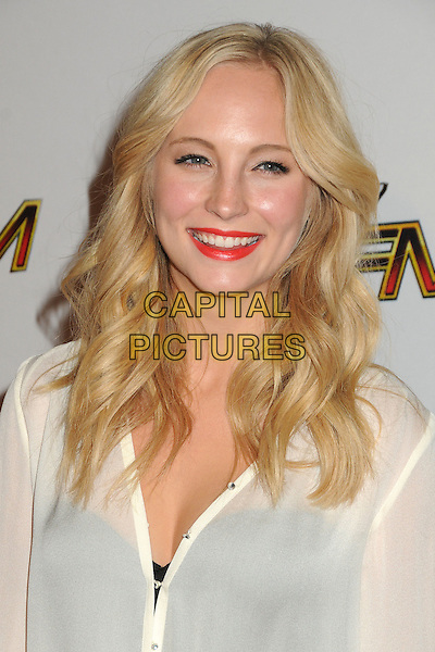 Candice Accola.The 102.7 KIIS FM Jingle Ball 2011 arrivals held at The Nokia Theater Live in Los Angeles, California, USA, December 3rd 2011..headshot portrait white blouse red lipstick smiling.CAP/ADM/BP.©Byron Purvis/AdMedia/Capital Pictures.