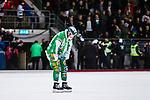 V&auml;ster&aring;s 2014-03-08 Bandy SM-semifinal 4 V&auml;ster&aring;s SK - Hammarby IF :  <br /> Hammarbys Carl-Johan Rutqvist deppar<br /> (Foto: Kenta J&ouml;nsson) Nyckelord:  VSK Bajen HIF depp besviken besvikelse sorg ledsen deppig nedst&auml;md uppgiven sad disappointment disappointed dejected