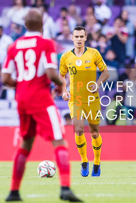 Trent Sainsbury of Australia in action during the AFC Asian Cup UAE 2019 Group B match between Australia (AUS) and Jordan (JOR) at Hazza Bin Zayed Stadium on 06 January 2019 in Al Ain, United Arab Emirates. Photo by Marcio Rodrigo Machado / Power Sport Images