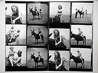 Pictured: Contact sheet by Bert Hardy of the Blackpool photoshoot dated July 1951.<br /> Re: 77 year old Pat Stewart (nee Wilson) who now lives near Llantwit Major in the Vale of Glamorgan, south Wales claims she is one of the two young ladies in an iconic image taken by photographer Bert Hardy at Blackpool Promenade in July 1951, alongside fellow Tiller girl Wendy Clarke. Stewart is alleging that another woman, Norma Edmondson who has been claiming that it is her in the picture, is a fraud.<br /> COPYRIGHT FOR THIS IMAGE BELONGS TO BERT HARDY AND OR HIS ESTATE, AGENCY ETC AND IS ONLY SUPPLIED TO SUPPORT PAT STEWART'S CLAIMS