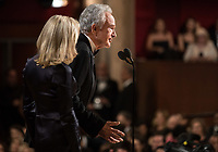 Warren Beatty and Faye Dunaway present the Oscar&reg; for best picture motion picture during the live ABC Telecast of the 90th Oscars&reg; at the Dolby&reg; Theatre in Hollywood, CA on Sunday, March 4, 2018.<br /> *Editorial Use Only*<br /> CAP/PLF/AMPAS<br /> Supplied by Capital Pictures