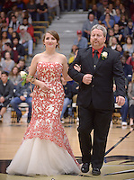NWA Democrat-Gazette/BEN GOFF @NWABENGOFF<br /> Kayla Yeates takes the floor on Friday Jan. 15, 2016 during Bentonville High's colors day ceremony at halftime in the boys basketball game against Springdale Har-Ber in Bentonville's Tiger Arena.