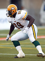 Kojo Aidoo Edmonton Eskimos. Photo Scott Grant