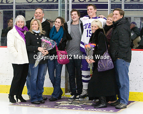 Steven Mohler (Curry - 15) - The Curry College Colonels defeated the Johnson & Wales University Wildcats 5-4 on Curry's senior night on Saturday, February 18, 2012, at Max Ulin Rink in Milton, Massachusetts.