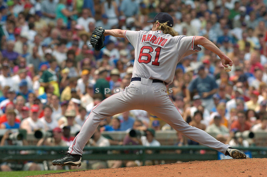 Bronson Arroyo during the Boston Red Sox v. Chicago Cubs game on June 10, 1005..Cubs win 14-6..David Durochik / SportPics