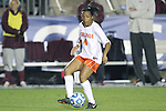 08 November 2013: Virginia's Morgan Stith. The University of Virginia Cavaliers played the Virginia Tech Hokies at WakeMed Stadium in Cary, North Carolina in a 2013 NCAA Division I Women's Soccer match and the semifinals of the Atlantic Coast Conference tournament. Virginia Tech won the game 4-2.