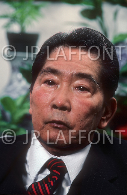 Honolulu, Hawaii, March, 1987. President Marcos, former president of the Philippines, in his home during his political exile years.