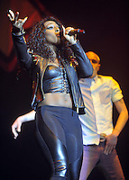 Birmingham, England - Alexandra Burke performs at the Girlguiding UK Big Gig at LG Arena, Birmingham, England -  March 31st 2012..Photos by Ross Stratton.