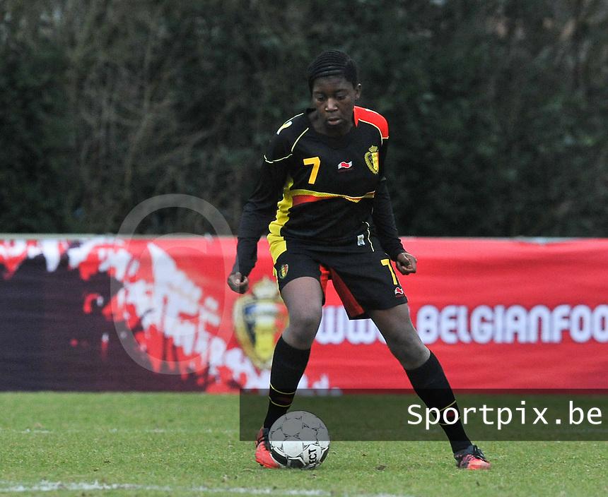 Denmark U17 - Belgium U17 : Henriette Awete.foto DAVID CATRY / Vrouwenteam.be