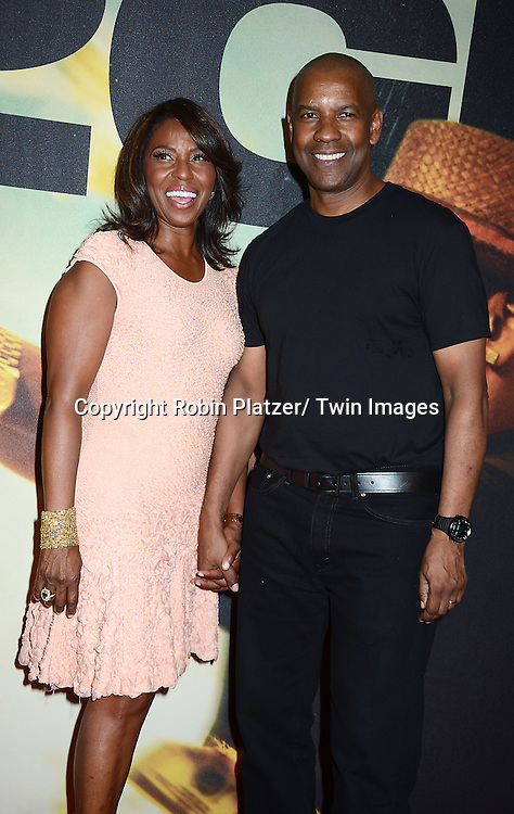 Denzel Washington and wife Pauletta attend the World Premiere of &quot;2 Guns&quot; on July 29, 2013<br /> at The SVA Theatre in New York City. The movie stars Denzel Washington, Mark Wahlberg, Paula Patton, Bill Paxton, James Marsden and Edward James Olmos.