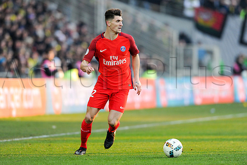 January 21st, 2017, Nantes, France; French League 1 football, Nantes versus Paris Saint Germain; THOMAS MEUNIER (psg)
