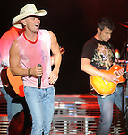 Photo by Mike Ullery.Kenny Chesney performs at Country Concert in the Hills at Hickory Hills Lake near Ft. Loramie, Ohio on Friday July 11, 2008.