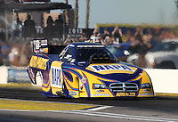 Feb. 22, 2013; Chandler, AZ, USA; NHRA funny car driver Ron Capps during qualifying for the Arizona Nationals at Firebird International Raceway. Mandatory Credit: Mark J. Rebilas-