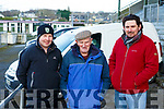 Lixnaw trio l-r, Mark Ryall, Willie O,Connell and John Maher enjoying the festive coursing meeting of the Kingdom Cup in Ballybeggan Park in Tralee on Wednesday last.