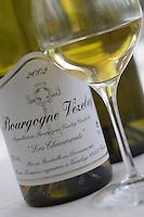 Europe/France/Bourgogne/89/Yonne/Saint-Père-sous-Vézelay: Le vin blanc Bourgogne Vezelay de Marc Meneau vigeron et chef de l'Espérance Hotel restaurant - Relais et Chateau