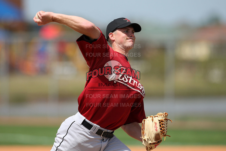 March 22, 2010:  Pitcher James (Jim) McDonald of the Houston Astros organization during Spring Training at the Carl Barger Training Complex in Melbourne, FL.  Photo By Mike Janes/Four Seam Images