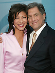 Julie Chen and Leslie Moonves attending the CBS TV Network 2004-2005 Upfront Announcements at Tavern on the Green in New York City.<br />