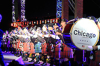 Chicago Pipe Band during the closing ceremony of the 39th Ryder Cup at Medinah Country Club, Chicago, Illinois  (Photo Colum Watts/www.golffile.ie)