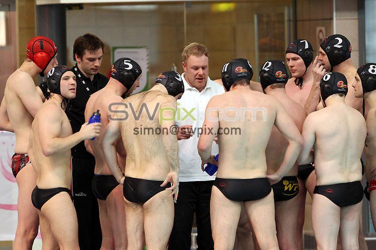 PICTURE BY ALEX WHITEHEAD/SWPIX.COM - Water Polo - British Gas Water Polo Championships 2013 - Men's Final, Bristol Central v Lancaster - Manchester Aquatics Centre, Manchester, England - 24/02/13 - Bristol Central team.
