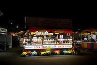 View of a food vendor stand selling corn dogs and onion rings at the North Carolina State Fair in Raleigh, NC, United States, 16 October 2008.