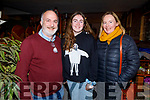 John, Sarah and Noleen Moriarty from Tralee attending John B Keanes Christmas Feast play in the Ballymac bar on Friday.