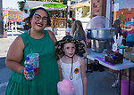 Annette and eight-year old Rory at the Midtown Art Walk on Thursday afternoon in Reno, June 28, 2018.