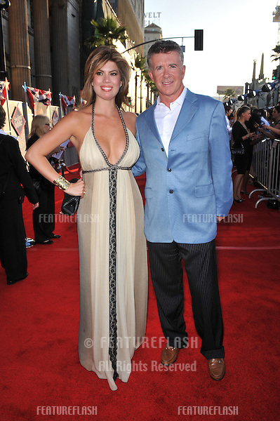 "Alan Thicke & wife at the world premiere of ""Swing Vote"" at the El Capitan Theatre, Hollywood..July 24, 2008  Los Angeles, CA.Picture: Paul Smith / Featureflash"