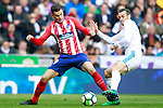 Real Madrid's Gareth Bale (r) and Atletico de Madrid's Lucas Hernandez during La Liga match. April 8,2018. (ALTERPHOTOS/Acero)