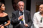 """Vicente del Bosque at """"Yo me bajo en la próxima, ¿y usted?"""" presentation in Fernán Gómez Theater, Madrid, Spain, September 14, 2015. <br /> (ALTERPHOTOS/BorjaB.Hojas)"""