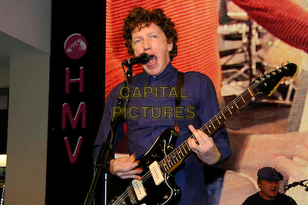 CLOR.HMV Digital In-Store gig at HMV, 150 Oxford Street..September 6th, 2005.half length band stage guitar singing.www.capitalpictures.com.sales@capitalpictures.com.©Capital Pictures