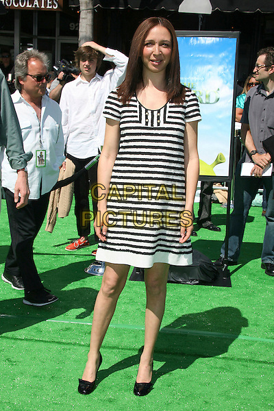 "MAYA RUDOLPH.Attending ""Shrek the Third"" Los Angeles Premiere at Mann's Village Theatre, Westwood, California, USA, .6 May 2007 .full length black and white striped dress.CAP/ADM/BP.©Byron Purvis/AdMedia/Capital Pictures."