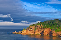 Bonaventure Island in the Atlantic Ocean at the end of the Gaspe Peninsula. Parc national de l'Île-Bonaventure-et-du-Rocher-Percé. This is a provincial parc, not a true federal park.<br />